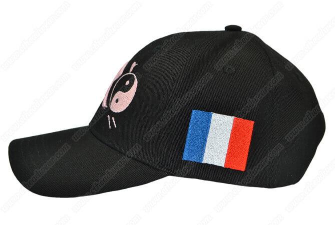 black baseball caps embroidered