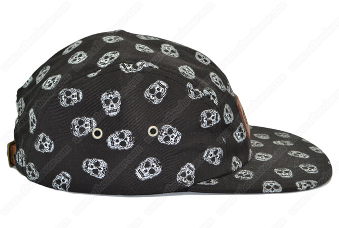 printed 5 panel camp hat
