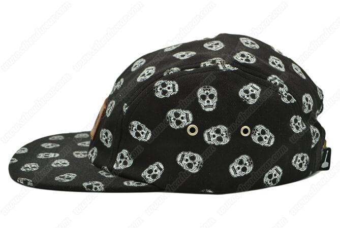 printed 5 panel camp hat