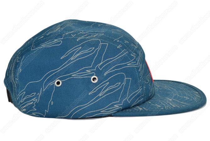 print 5 panel hats