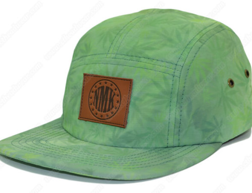 Printed cannabis 5 panel hats