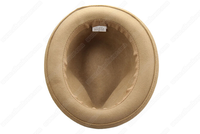 100% wool wide brim fedora hat