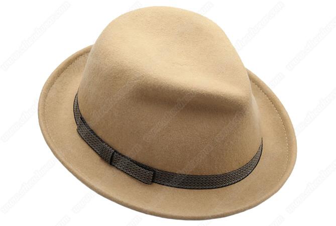 100% wool wide brim fedora hat