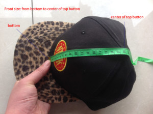 snapback hats front panel in height