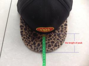 snapback hats visor in length