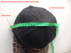 snapback hats side panel in height