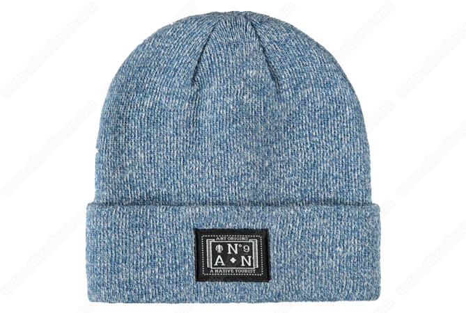 blue heather beanie hats for teenage girls