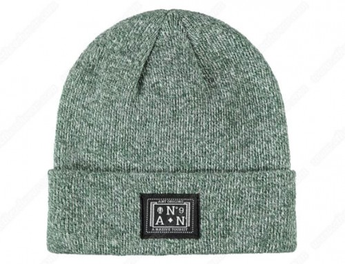 Knit beanies embroidered
