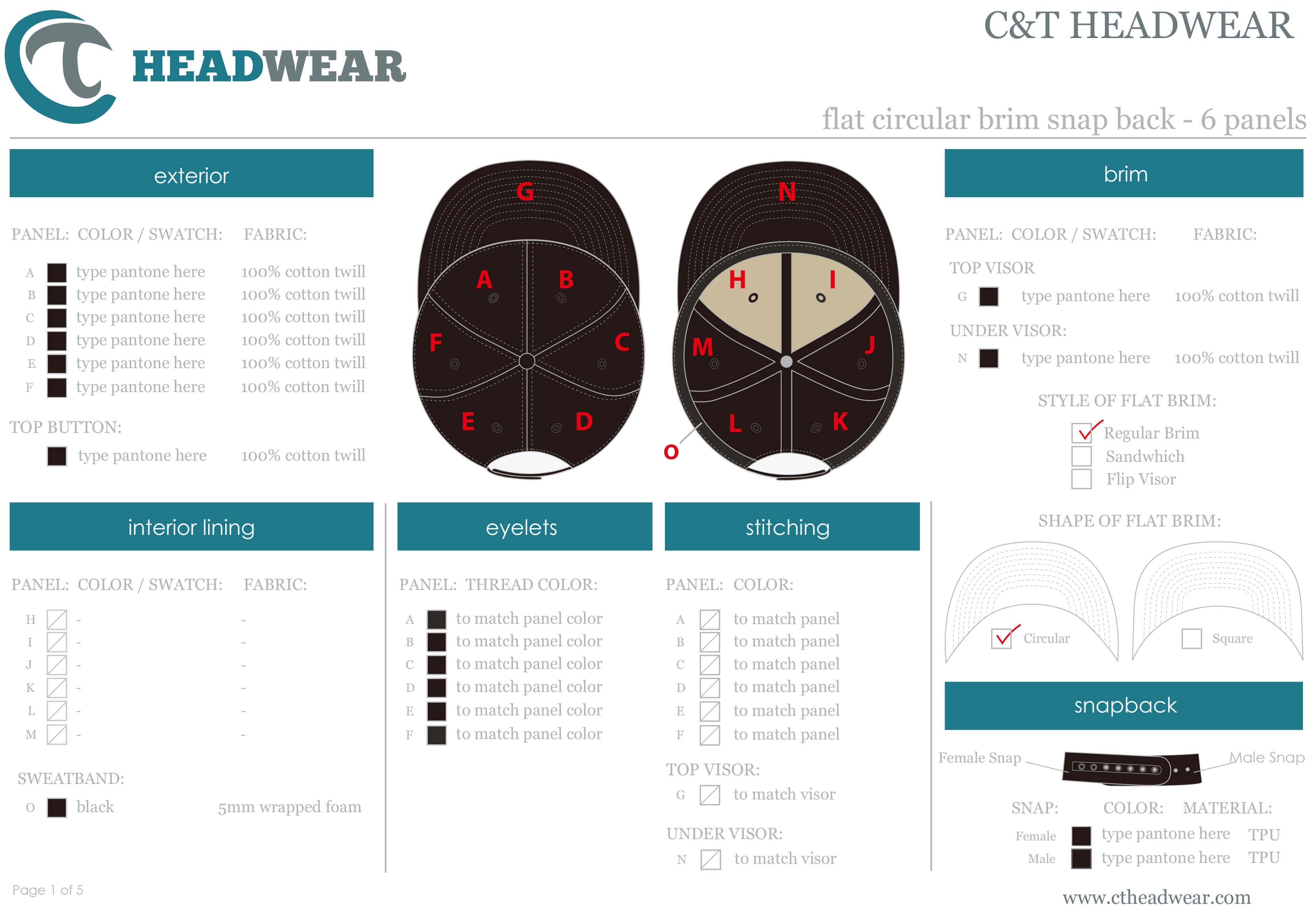 custom cap template
