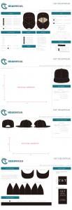 Headwear template